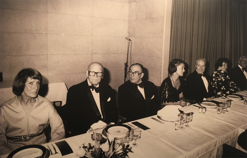 Mr. Urho Kekkonen, President of Finland was the Guest of Honour at the Consular Luncheon in Helsinki in 1976. On his left Doyen of CC, Mr. Pertti Pajari and on his left Mrs. Kirsti Pajari.