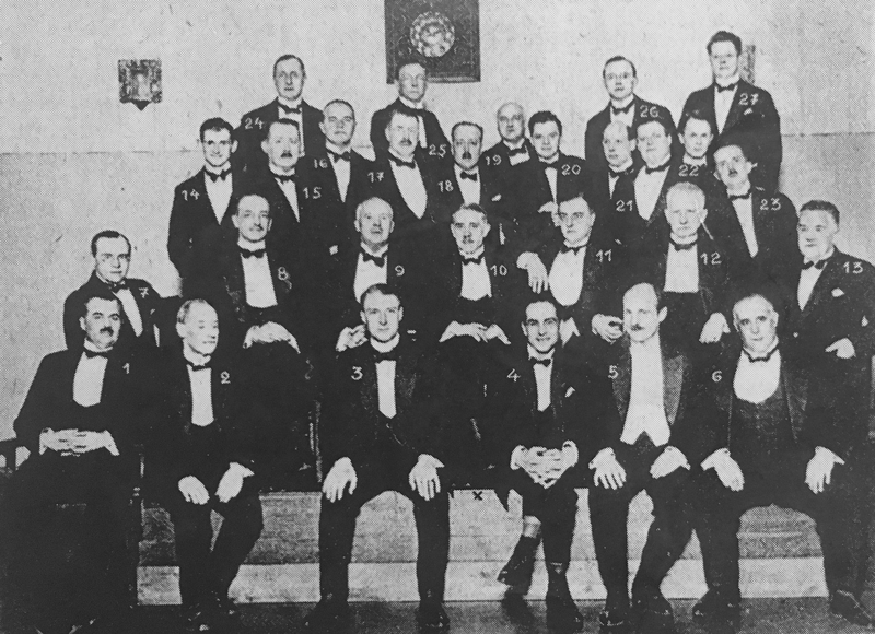 Consular Corps in Helsinki gathering for their first meeting.  (Source: Suomen Kuvalehti 16, 1926)